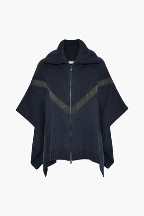 BRUNELLO CUCINELLI Bead-embellished cashmere poncho