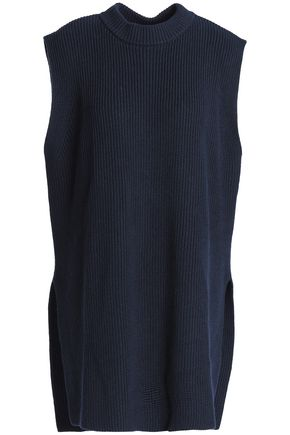 JIL SANDER Ribbed cotton, cashmere and silk-blend sweater