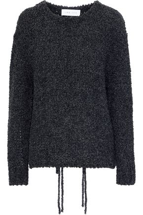 IRO Crecent open-knit bouclé sweater