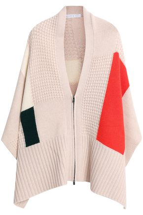 DUFFY Paneled wool and cashmere-blend poncho