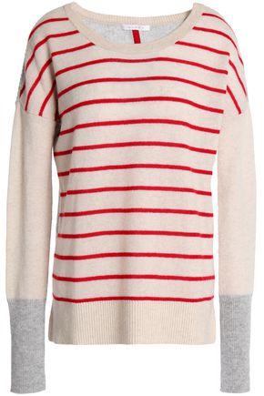DUFFY Paneled cashmere sweater