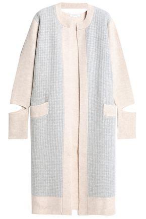DUFFY Cutout paneled wool-blend cardigan