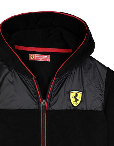 Scuderia Ferrari Online Store - Children's full zippered fleece sweatshirt - Zip Hood Sweaters