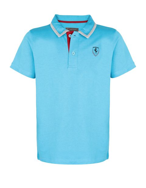 Boys' cotton jersey polo shirt