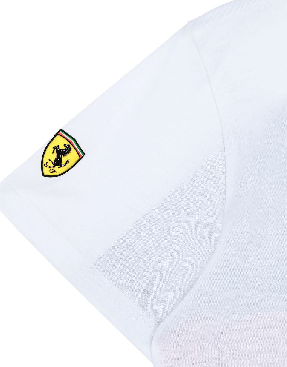 Scuderia Ferrari Online Store - Boys' cotton T-shirt with print - Short Sleeve T-Shirts