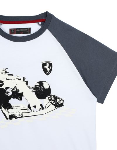 Scuderia Ferrari Online Store - Children's T-shirt with glow-in-the-dark print - Short Sleeve T-Shirts