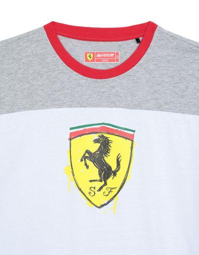 Scuderia Ferrari Online Store - Boys' cotton T-shirt with Shield -