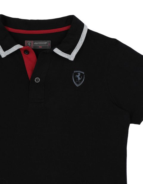 Scuderia Ferrari Online Store - Boys' cotton jersey polo shirt - Short Sleeve Polos