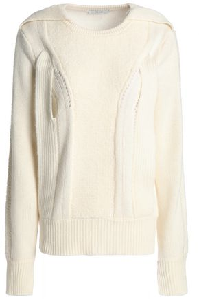 HOUSE OF DAGMAR Cutout wool-blend sweater