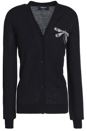 ROCHAS Embellished cotton cardigan