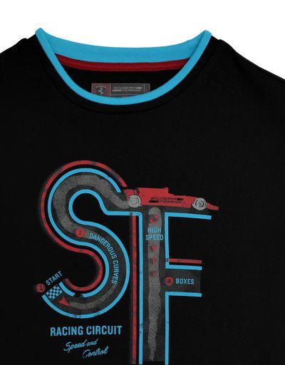 Scuderia Ferrari Online Store - Boys' T-shirt with racing circuit print - Short Sleeve T-Shirts