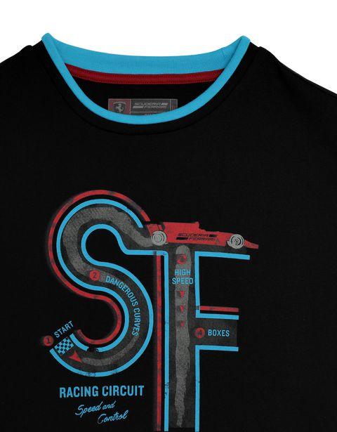 Scuderia Ferrari Online Store - Children's T-shirt with race track print -