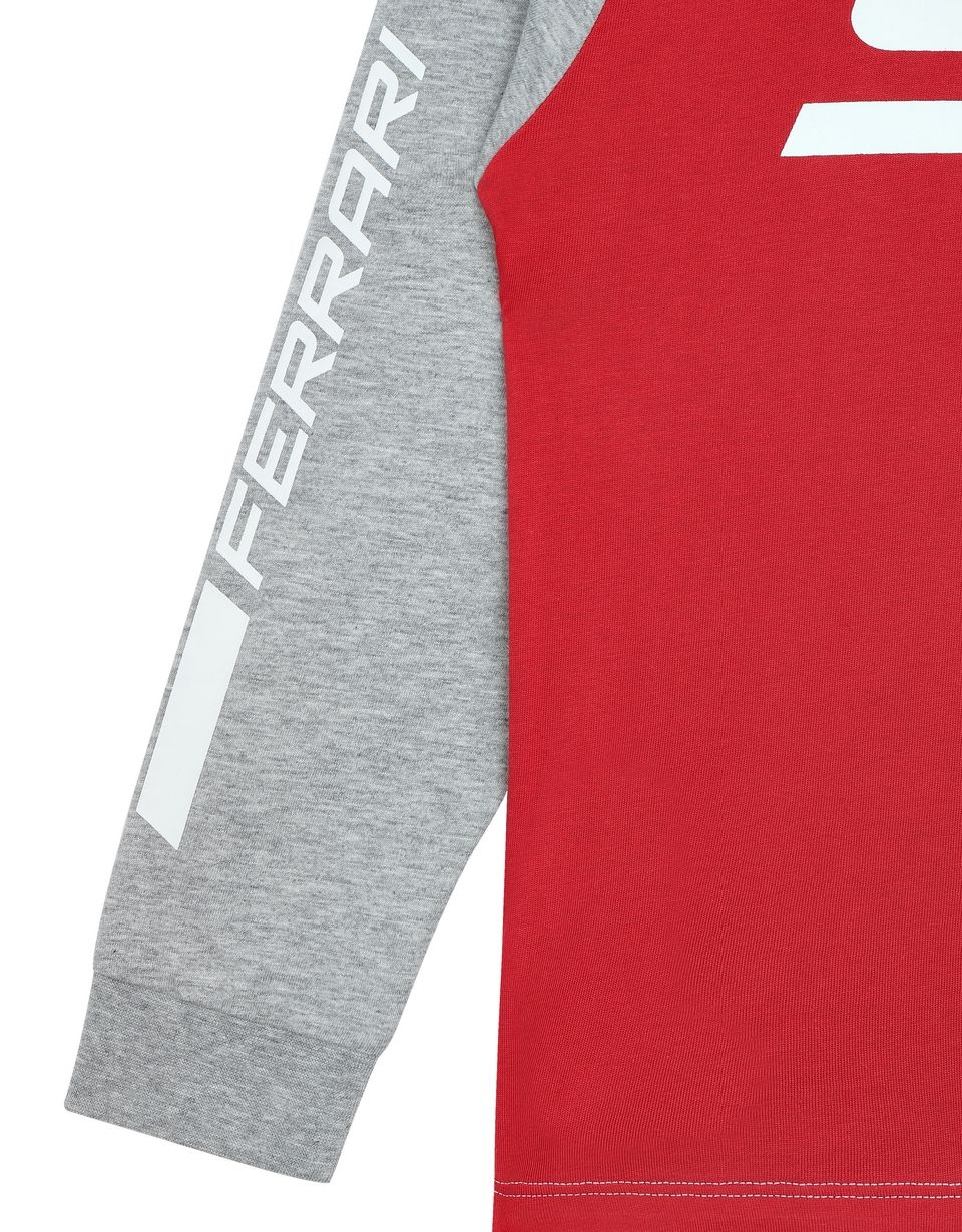 Scuderia Ferrari Online Store - Boys' long-sleeved T-shirt in stretch jersey -