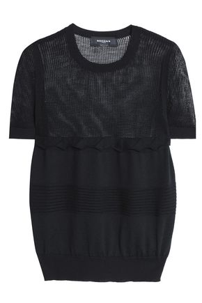 ROCHAS Open knit-paneled wool top