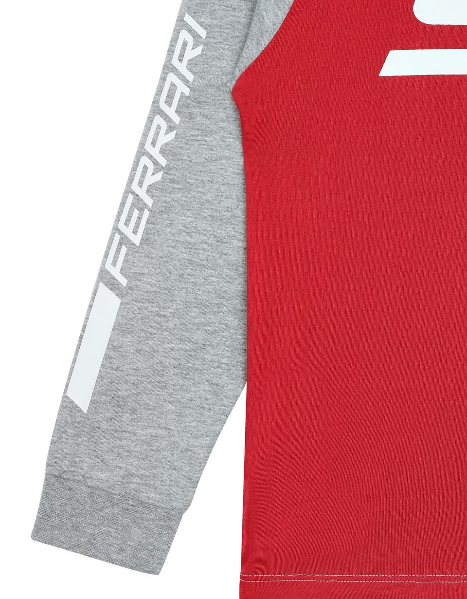 Scuderia Ferrari Online Store - Children's long-sleeved jersey T-shirt -