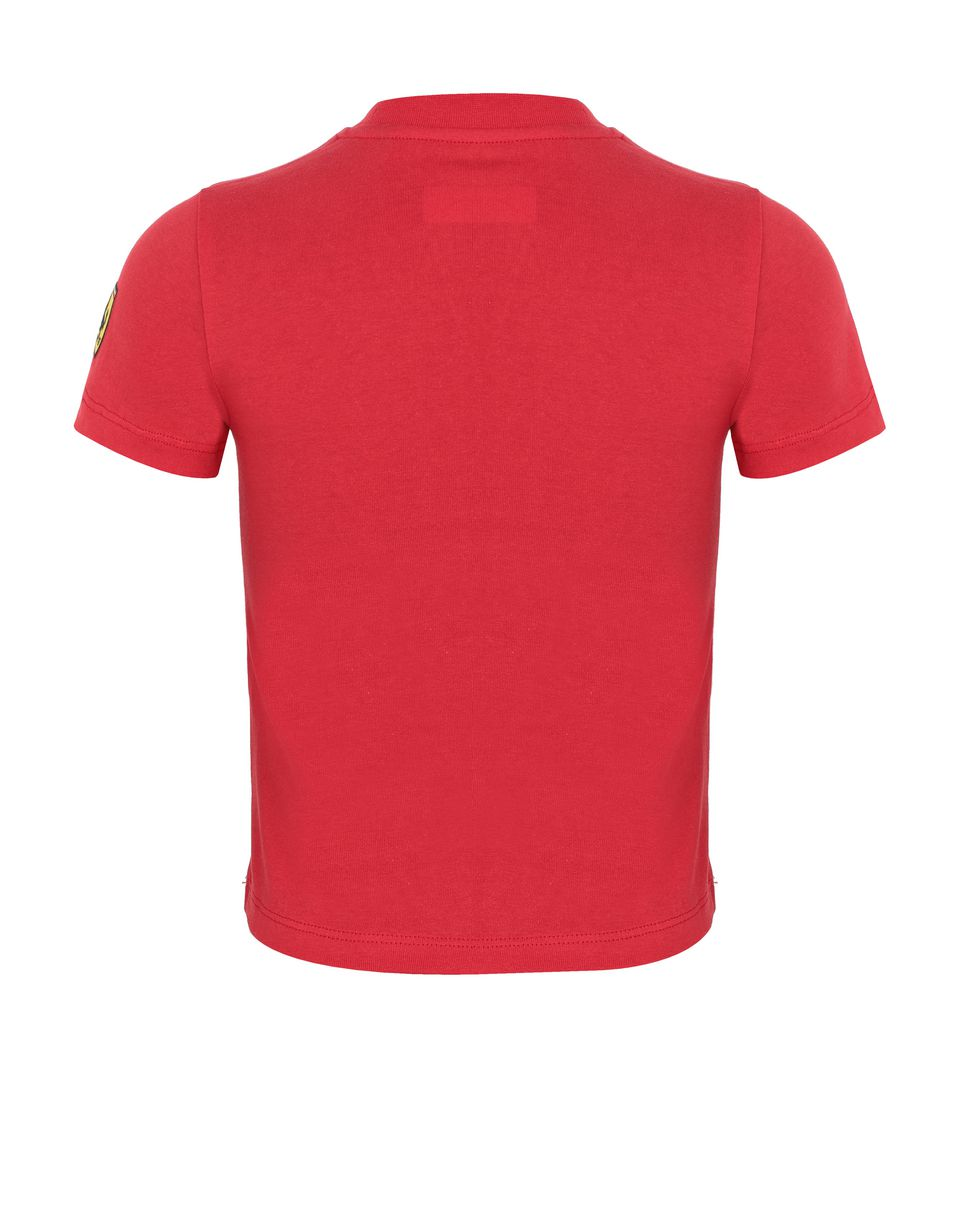 Scuderia Ferrari Online Store - Children's cotton T-shirt with print - Short Sleeve T-Shirts