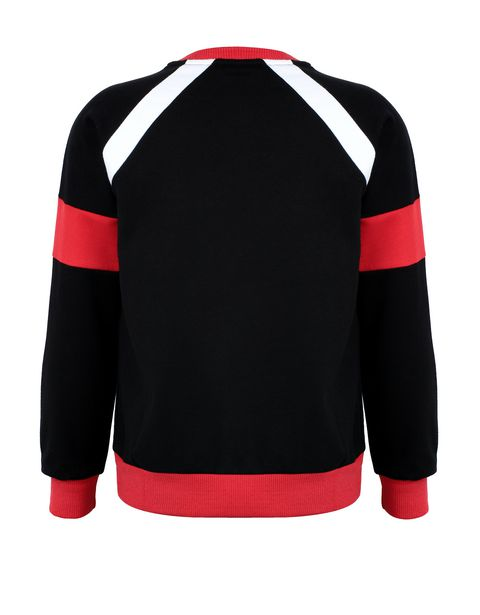 Boys' sweatshirt with knit inserts