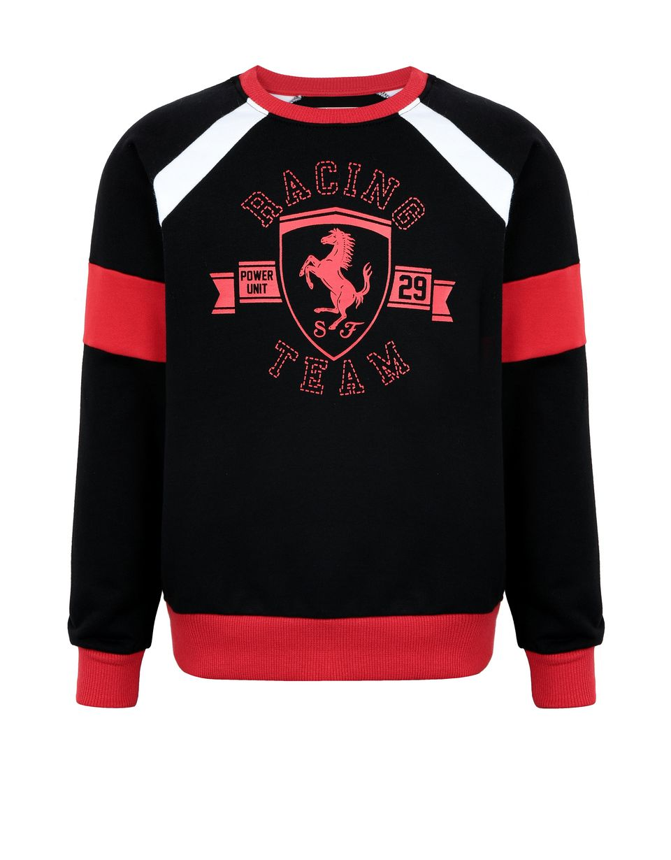 Scuderia Ferrari Online Store - Boys' sweatshirt with knit inserts - Crew Neck Jumpers