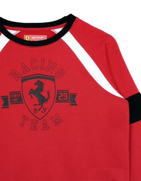 Scuderia Ferrari Online Store - Boys' sweatshirt with knit inserts - Crew Neck Sweaters