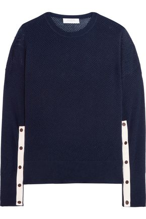 LA LIGNE Open-knit wool and cashmere-blend sweater