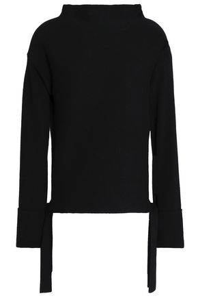 DUFFY Color-block wool and cashmere-blend sweater