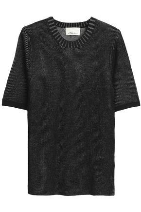 3.1 PHILLIP LIM Ribbed metallic wool-blend sweater