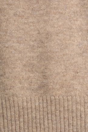 AUTUMN CASHMERE Fluted mélange cashmere sweater