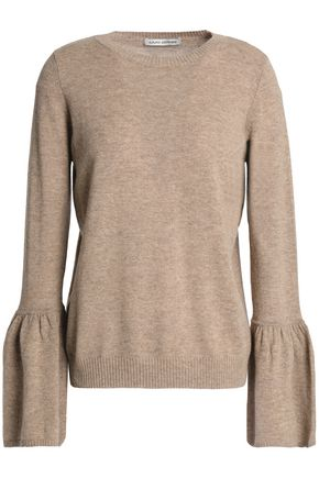 AUTUMN CASHMERE Fluted mélange cashmere sweater