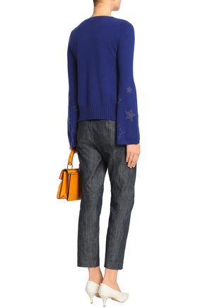 AUTUMN CASHMERE Studded cashmere sweater