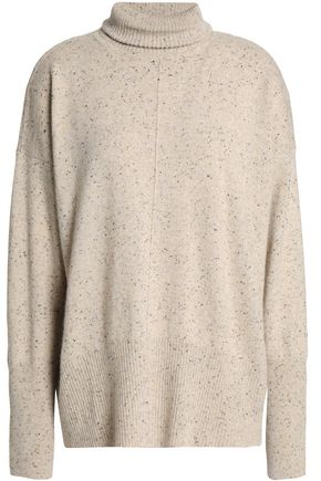 AUTUMN CASHMERE Marled cashmere turtleneck sweater
