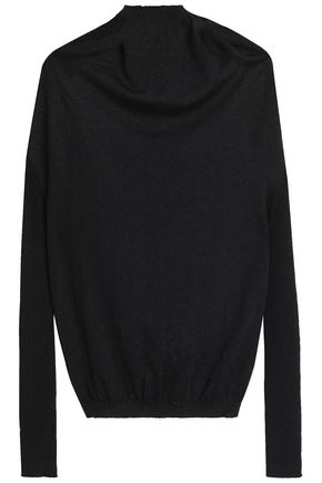 RICK OWENS Draped knitted sweater