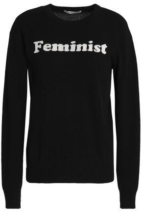 AUTUMN CASHMERE Intarsia cashmere sweater