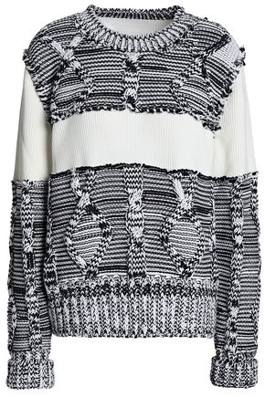 MAISON MARGIELA Ribbed and cable-knit cotton sweater