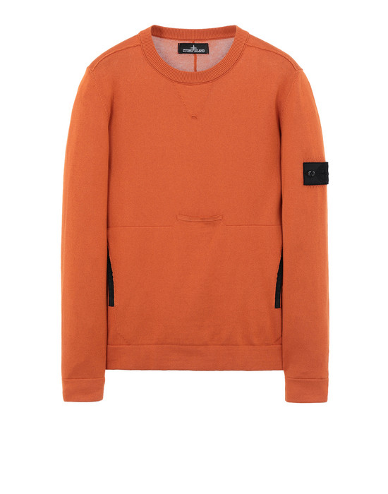 Свитер с круглым вырезом 508A2 LACUNA CREWNECK WITH CHAMBER POCKET AND DROP POCKET (100% PIMA COTTON) STONE ISLAND SHADOW PROJECT - 0