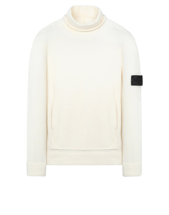 High neck 504A3 ENGINEERED MOCK NECK WITH STRATA POCKETS (WOOL+MIXED FIBRES - GAUZED EFFECT)  STONE ISLAND SHADOW PROJECT - 0