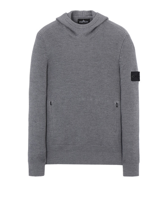 STONE ISLAND SHADOW PROJECT Jersey 503A4 KNITTED HOODIE (VIRGIN WOOL/SILK BLEND)
