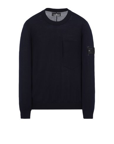 501A4 CATCH POCKET-T CREWNECK (LANA VERGINE/MISTO SETA)