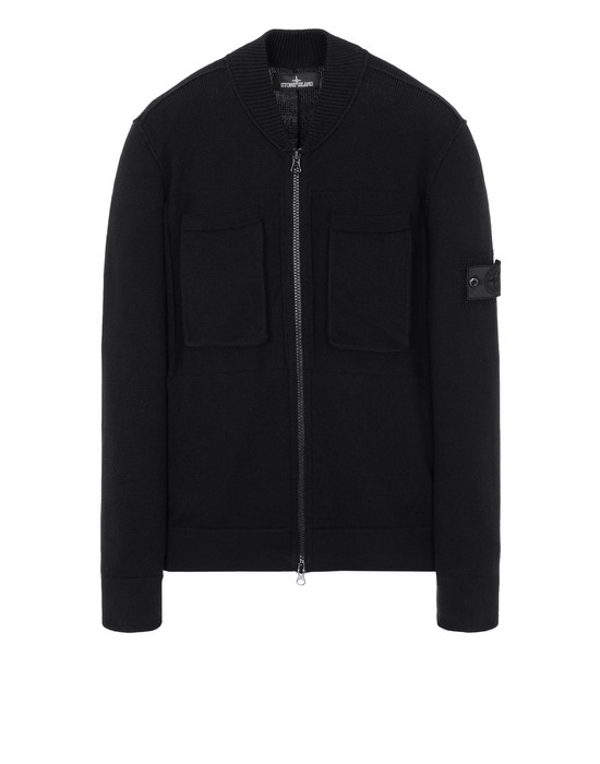 Cardigan 506A1 ENGINEERED BOMBER KNIT (WINTER COTTON) STONE ISLAND SHADOW PROJECT - 0