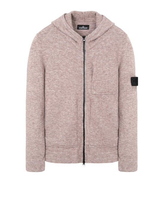 STONE ISLAND SHADOW PROJECT Cardigan 505A3 ENGINEERED HOODED SWEAT WITH STRATA POCKET (WOOL+MIXED FIBRES - GAUZED EFFECT)