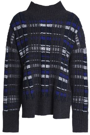 3.1 PHILLIP LIM Checked ribbed-knit turtleneck sweater
