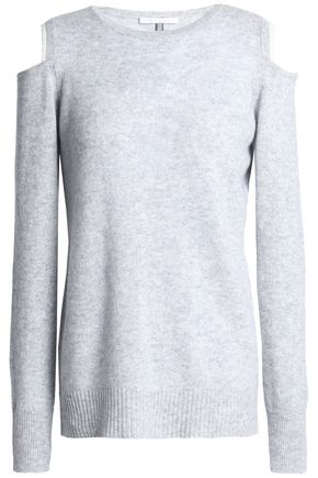 DUFFY Cold-shoulder cashmere sweater