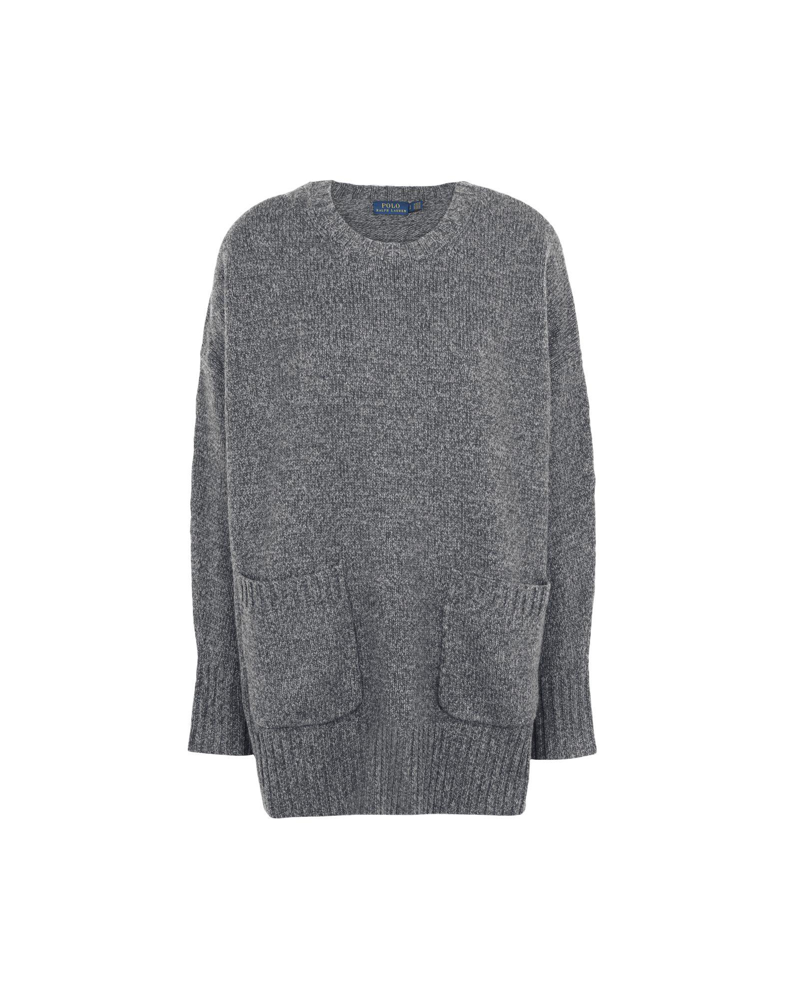 《期間限定 セール開催中》POLO RALPH LAUREN レディース プルオーバー グレー XS ウール 90% / カシミヤ 10% Wool/Cashmere sweater w-pocket
