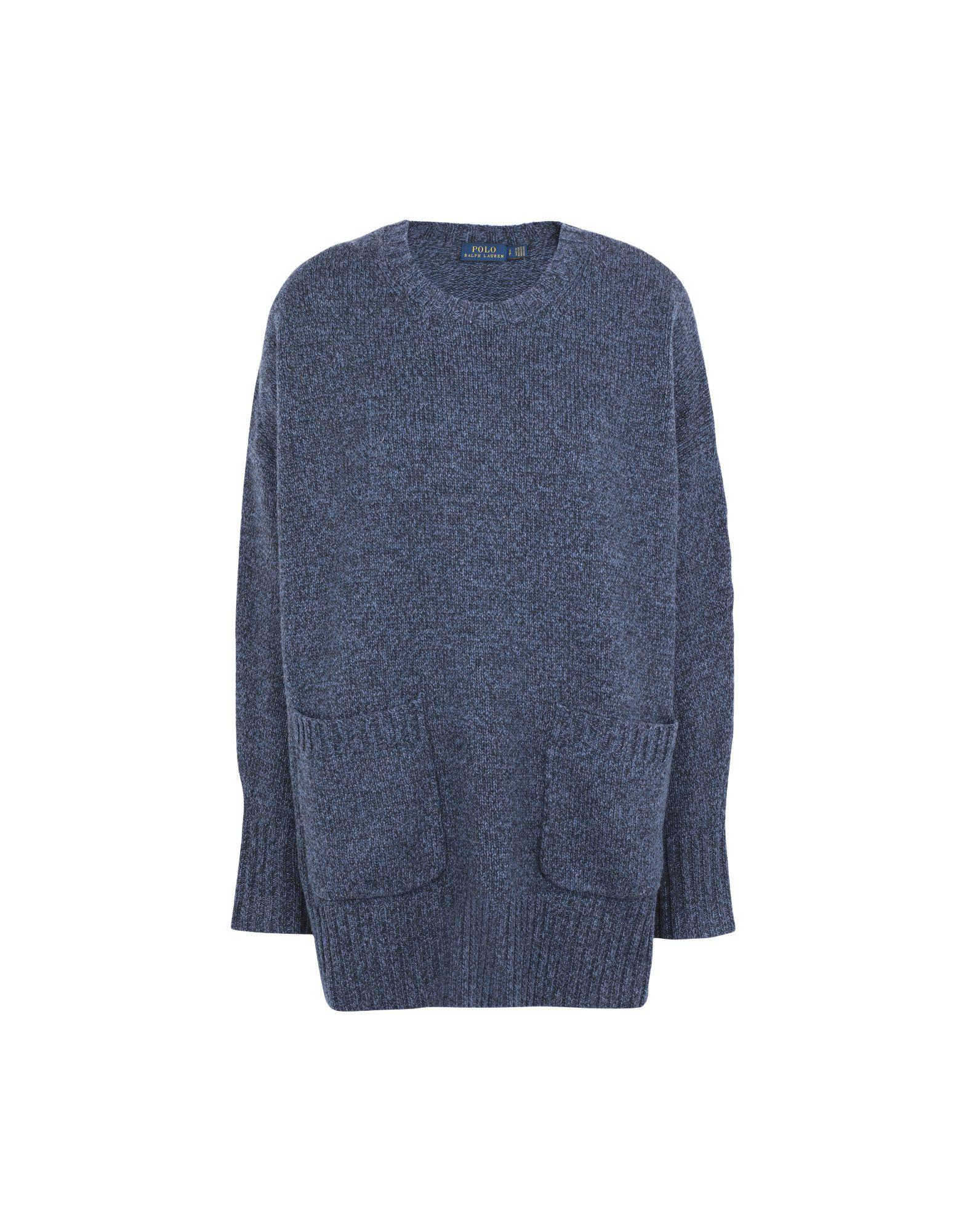《送料無料》POLO RALPH LAUREN レディース プルオーバー ブルーグレー XS ウール 90% / カシミヤ 10% Wool/Cashmere sweater w-pocket