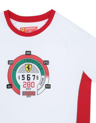 Scuderia Ferrari Online Store - Boys' cotton T-shirt with speedometer print -