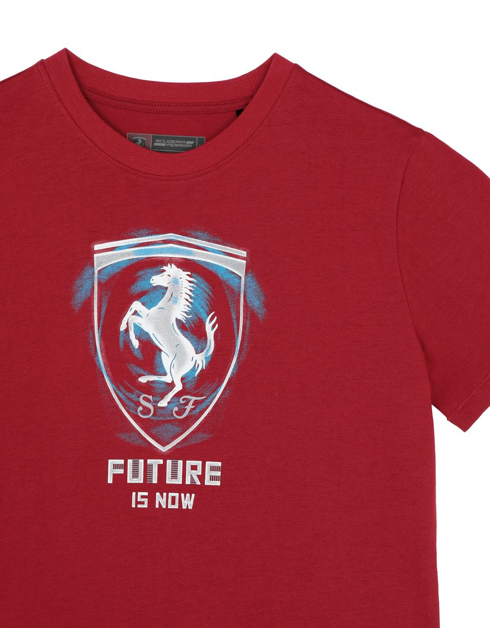 Scuderia Ferrari Online Store - ʺFuture is nowʺ children's T-shirt - Short Sleeve T-Shirts