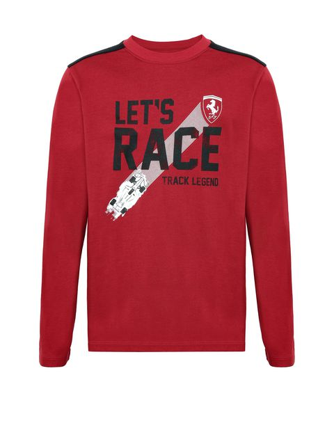 Children's T-shirt with ʺLet's raceʺ slogan