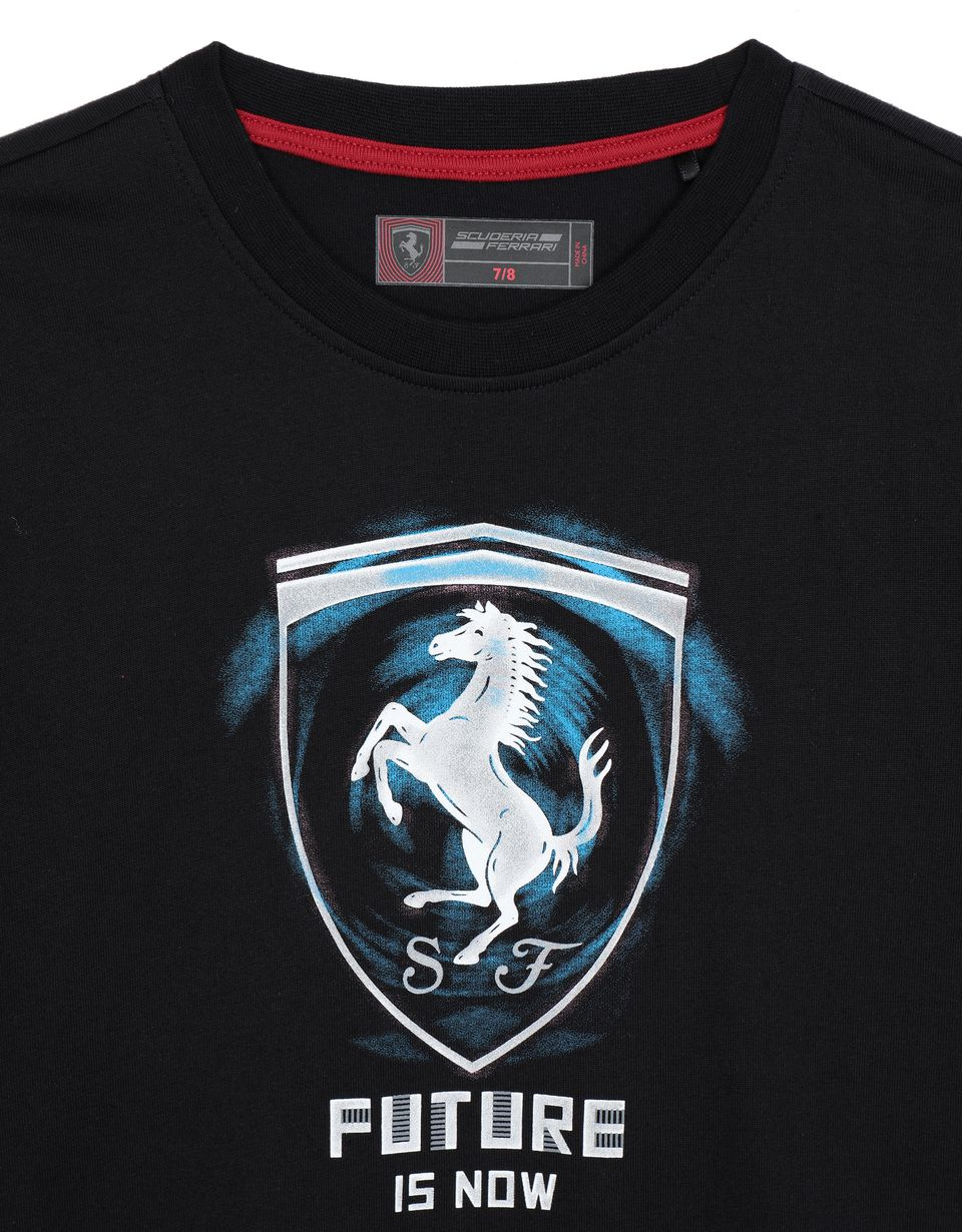 Scuderia Ferrari Online Store - T-shirt ragazzo ʺFuture is nowʺ - T-shirt manica corta