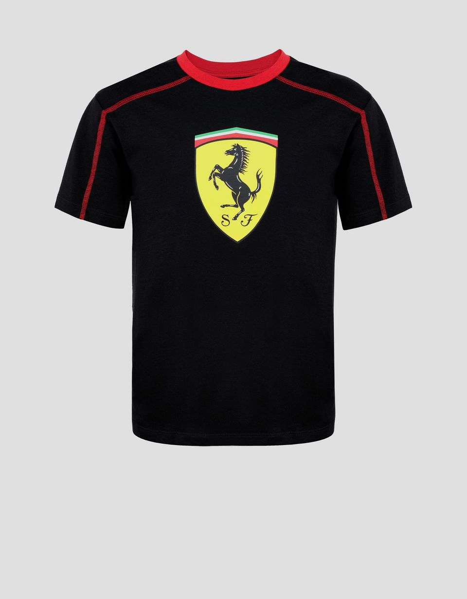 Scuderia Ferrari Online Store - Boys' cotton T-shirt with Shield -