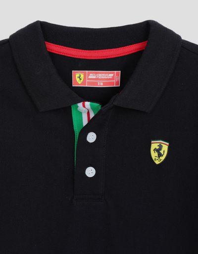 Scuderia Ferrari Online Store - Kinder-Poloshirt mit Trikolore - Kurzärmelige Poloshirts