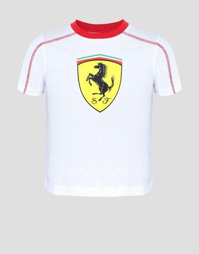 2bd243ebab4aa Boys  cotton T-shirt with Shield ...